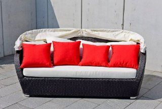Wicker Furniture Outdoor Patio Canopy Daybed, Model SUNNY, Brown  Outdoor And Patio Furniture Sets  Patio, Lawn & Garden