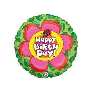 "Happy Birthday Flower Ladybug 18"" Mylar Balloon: Health & Personal Care"