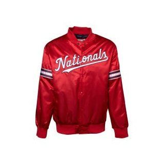 Washington Nationals GIII MLB Starter Satin Jacket : Sports Fan Outerwear Jackets : Sports & Outdoors