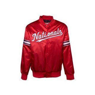 Washington Nationals GIII MLB Starter Satin Jacket : Sports Fan Outerwear Jackets : Sports & Outdoors