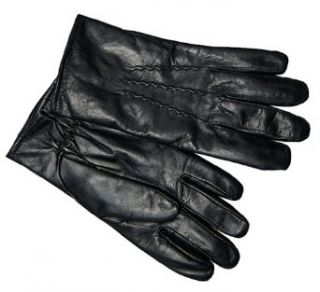 Gear For Professionals Men's Elastic at Wrist Leather Gloves Black Large at  Men�s Clothing store
