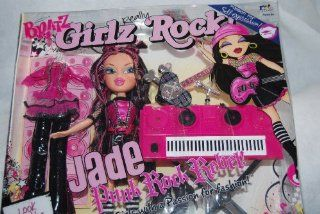 Bratz Girlz Really Rock 10 Inch Doll   Jade the Punk Rock Rebel with 2 Rockin' Outfits Plus Stylin' Pop Guitar, Microphone with Stand and Keyboard: Toys & Games