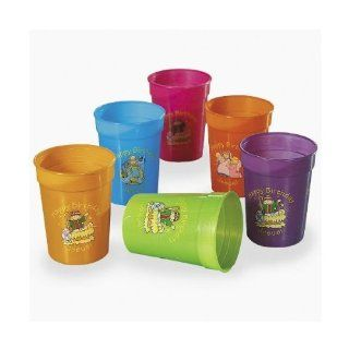 PLASTIC HAPPY BIRTHDAY JESUS CUPS (1 DOZEN)   BULK: Toys & Games