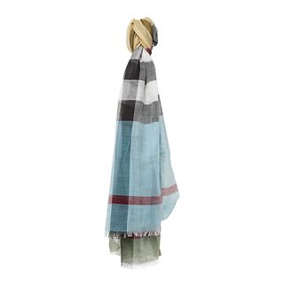 Burberry Rosemary Mega Check Colour Striped Scarf Burberry Designer Scarves & Wraps