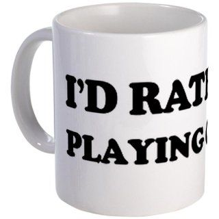 Rather be Playing Cricket Mug by CafePress: Kitchen & Dining