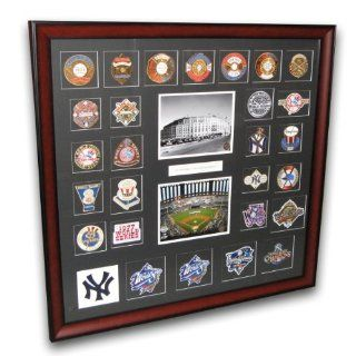 MLB New York Yankees World Series Framed Patch Collection  Sports Related Collectibles  Sports & Outdoors