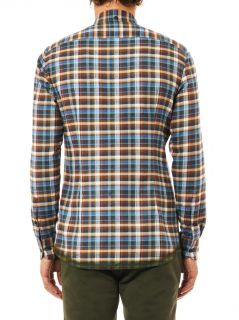 Check print cotton flannel shirt  Bottega Veneta  MATCHESFAS