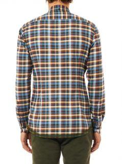 Check print cotton flannel shirt  Bottega Veneta  MATCHESFAS