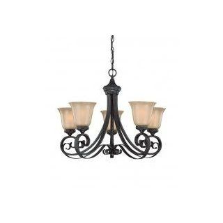 Jeremiah Five Light English Toffee Frost Glass Up Chandelier 25125 ET   Vanity Lighting Fixtures