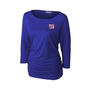 Cutter & Buck New York Giants Womens Infield Dolman Three Quarter Sleeve Tri Blend T Shirt   Royal Blue : Sports Fan Apparel : Sports & Outdoors