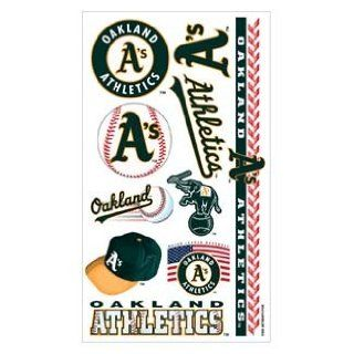 Oakland Athletics A's Temporary Body Tattoos 3 Pack : Sports Related Tailgating Fan Packs : Sports & Outdoors
