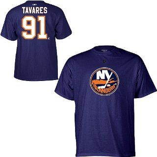 Reebok New York Islanders John Tavares Player Name & Number T Shirt   NEW YORK ISLANDERS NAVY Large : Sports Related Merchandise : Sports & Outdoors