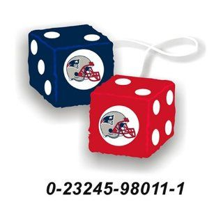 New England Patriots Fuzzy Dice : Sports Related Merchandise : Sports & Outdoors