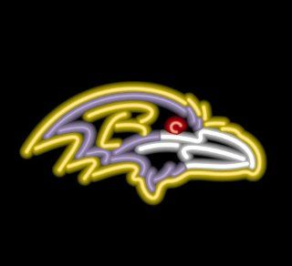 Baltimore Ravens Team Logo Neon Sign  Sports Related Merchandise  Sports & Outdoors
