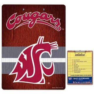 NCAA Washington State Cougars Team Logo Clipboard : Sports Related Collectibles : Office Products