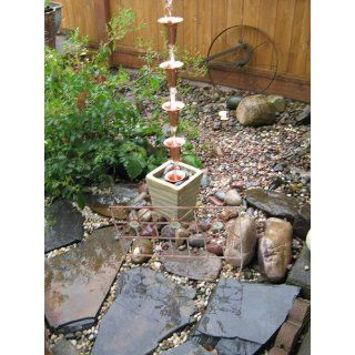 Stanwood Rain Chain Bell/Cup Shaped Copper Rain Chain, 8 Feet : Large Rain Chain : Patio, Lawn & Garden