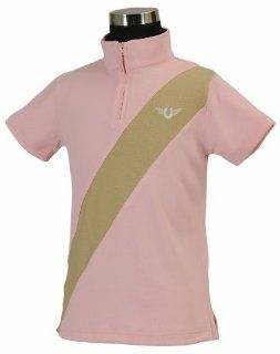 TuffRider Girl's Kyle Kwik Dry Short Sleeve Polo Shirt : Equestrian Riding Shirts : Sports & Outdoors