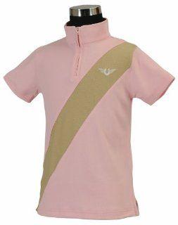 TuffRider Girl's Kyle Kwik Dry Short Sleeve Polo Shirt : Equestrian Riding Shirts : Sports & Outdoors