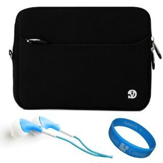 "Black VG Neoprene Sleeve Cover for Asus VivoTab RT TF600T 10.1"" Windows RT Tablet + Blue Hifi Noise Reducing Headphones + SumacLife TM Wisdom Courage Wristband: Computers & Accessories"