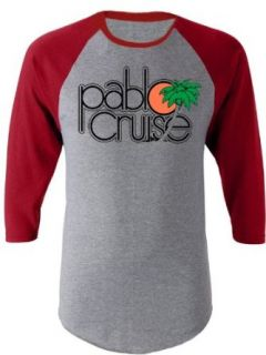 Step Brothers Pablo Cruise Adult Gray and Maroon Raglan T Shirt Clothing