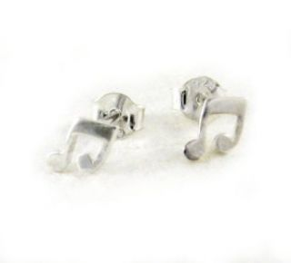 Sterling Silver Music Notes Post Earrings Clothing