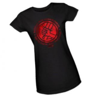 Bureau Of Paranormal Research And Defense    Hellboy II Juniors T Shirt Clothing