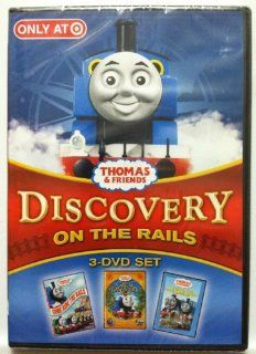Thomas and Friends Discovery On The Rails 3 DVD Set Includes Come Ride The Rails / The Great Discovery / Thomas and the Really Brave Engines: Movies & TV