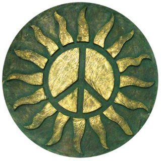 Very Cool Stuff RPS23 Resin Sun with Peace Sign Wall Decor, 23 Inch (Discontinued by Manufacturer)  Outdoor Statues  Patio, Lawn & Garden