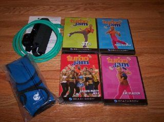 TURBO JAM MAXIMUM RESULTS KIT Fat Blaster Cardio Party Mix 3 Totally Tubular Punch, Kick & Jam DVD's Weighted Gloves Resistance Cord : Exercise And Fitness Video Recordings : Sports & Outdoors