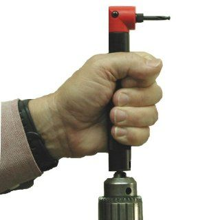 Right Angle Drill Attachment   90 Degree Threaded Shank Tools Power Drill Adapter: Power Drill Accessories: Industrial & Scientific