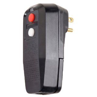 Tower Manufacturing 30334009 15 amp Black Color User Attachable Right Angle GFCI Male Plug With Auto Reset: Ground Fault Circuit Interrupters: Industrial & Scientific