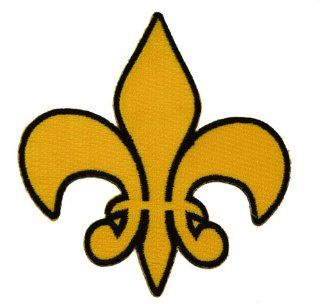 Fleur de lis Fleur de lys French Saints symbol New Orleans Iron or Sew on Embroidered Patch D35