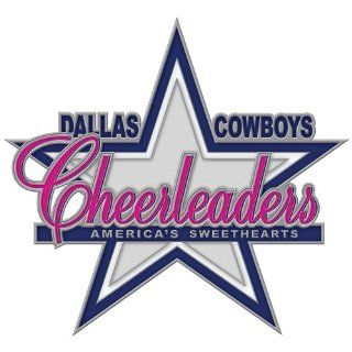 Dallas Cowboys Cheerleaders logo Cloisonne Pin w/Clamshell  Sports Related Pins  Sports & Outdoors