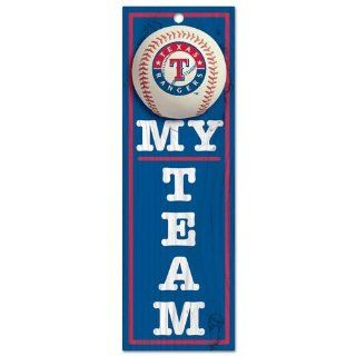 MLB Texas Rangers Sign My Team : Sports Related Merchandise : Sports & Outdoors
