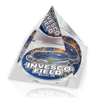 NFL Denver Broncos Invesco Field in Large Crystal 3 1/4 Inch Pyramid : Sports Related Collectibles : Sports & Outdoors