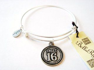 "Authentic Bella Ryann ""Sweet 16"" adjustable wire bangle silver (Same day shipping): Jewelry"