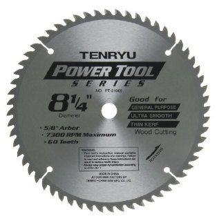 "Tenryu PT 21060 8"" Carbide Tipped Saw Blade ( 60 Tooth ATAF Grind   5/8""Ko Arbor   0.079 Kerf)   Circular Saw Blades"