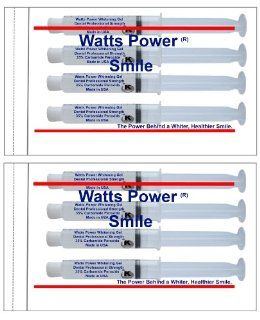 Watts Power Pro Dual Action 35% Teeth Whitening Gels   Same Results As 44% but Safer & Without the Sting  Dual Action for Surface and Deep Stains   8 Large 10ml Syringes   Made in the USA: Health & Personal Care
