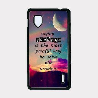 Saying Goodbye Hipster Quote Mystic Moon Background Lg E975 Optimus G Case   For Lg E975 Optimus G: Cell Phones & Accessories