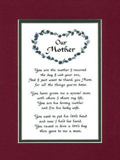 Our Mother Family Saying Mother in Law Saying Home Decor Wall Sign   Decorative Plaques