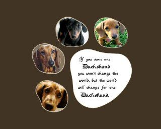 Save One Dachshund Saying Wall Decor Rescued Pet Dog Saying   Decorative Plaques