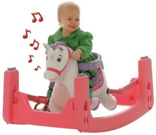 Tek Nek Rockin' Rider Starlight Grow with Me Pony   Animated Plush Rocker and Spring Horse: Toys & Games