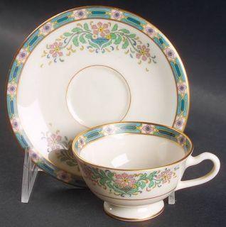 Lenox China Mystic Footed Demitasse Cup & Saucer Set, Fine China Dinnerware   Mu
