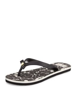fiji rubber flip flop, black   kate spade new york   Black (40.0B/10.0B)