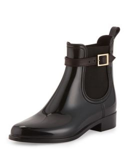 Jai PVC Short Rain Boot, Black   Jimmy Choo   Black (40.0B/10.0B)