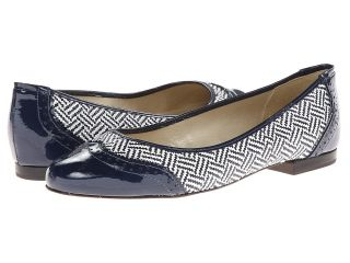 French Sole Linden Womens Flat Shoes (Navy)