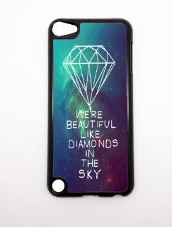 Apple iPhone 5 5G 5S We're Beautiful Like Diamonds In the Sky Nebula Stars Hipster BLACK Sides Slim HARD Case Skin Cover Protector Accessory Vintage Retro Unique: MP3 Players & Accessories