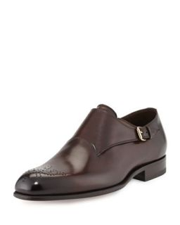 Mens Charles Single Monk Loafer, Brown   Tom Ford   Brown (12TT/ 11.5EE)