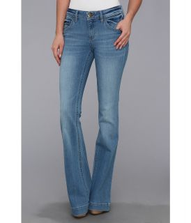 DL1961 Joy High Rise Kick Flare in York Womens Jeans (Black)