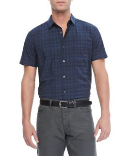 Mens Emer S Short Sleeve Shirt in Rockton, Eclipse Multi   Theory   Eclipse